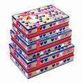 Boîtes cadeaux en carton/valentine boîtes à cadeaux avec ruban sur le dessus