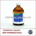 los antibióticos inyectables sulfadimidina de sodio para uso veterinario sólo