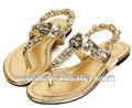 la princesa 2014 temperamento hueco de flores muy sexy de la moda las mujeres plana de cristal sandalias
