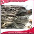 gris y blanco ondular el cabello no se enredan con la cutícula