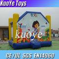 Dora inflável castelos pulando, bouncy inflável jogos, dora infatable trampolim