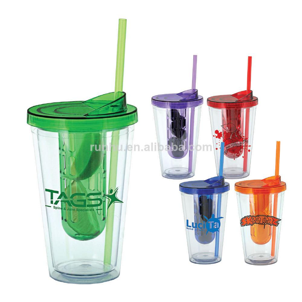 16oz en plastique isol double paroi tasse avec couvercle - Saladier verre avec couvercle ...