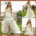 Gw0642 nova moda um- querida linha customed frente elegante de curto e longo nas costas do vestido de casamento