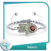 [Joyas TTT] 2014 de la moda al por mayor de la pulsera trenzada barato mal de ojo turco suerte