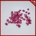 forma oval piedra sintética ruby