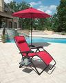 nueva cero gravedad silla reclinable reposacabezas ajustable rojo portátil playa y campo de