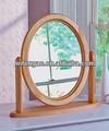 2014 redondo moldura de espelho madeira forma dom espelho cheval