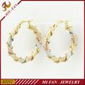 china jóias atacado moda 3 tom fotos de brincos de ouro