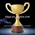 suministro de gran tazón de resina trofeo de golf con base de madera