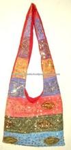 Vintage tribales bordado bolsos, hecho a mano patchwork bolsos, bordados étnicos bolsas,