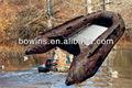 camo pesca barco pvc, aluminio bote inflable