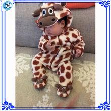 Patrón de bebé pijama de franela animal bebé Pijamas
