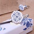 regalo de navidad el estilo de muchos para elegir el estilo chino de color azul y blanco porcelana marcador de metal