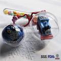 de navidad de plástico bola de navidad ornamento claro
