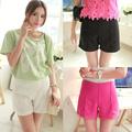 caliente de la moda de las señoras de la mujer zip lado de talle alto caliente pantalones cortos pantalones 3 colores