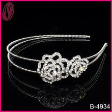 Bandas para la cabeza de flores de cristal de metal claras de la nueva llegada para las muchachas