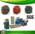 SJ-120 de doble etapa de Residuos Plásticos máquina de reciclaje/nylon reciclado de residuos