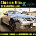 Plata de acero cepillado Vinyl Flex Wrap Calcomanias para carros, cromo Calcomanias para auto