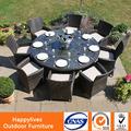 2014 mesa mobiliário de jardim rattan luxo e cadeiras