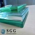 Peso y el coste de 10mm 12mm 3-19mm de vidrio templado con en12150-1 bs6026