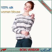 directo de fábrica personalizada patrón de venta al por mayor de china blusa 2014 diseños para las mujeres