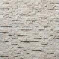 de color beige soleado y fractura de la superficie de mosaico de piedra