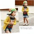 2014 coreano atacado colorido de manga longa crianças roupa moda infantil casaco de malha de fábrica na china