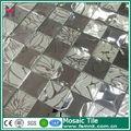 espejo de plata flor de mosaico mosaico de diseño