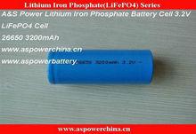 recargable 26650 batería de litio fosfato de hierro