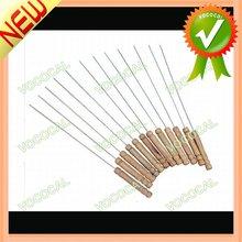 10 piezas de aceroinoxidable de barbacoa accesorio brocheta de pegatinas