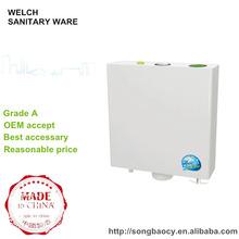 058 más nuevo cisterna de agua del inodoro de plástico de diseño para ponerse en cuclillas inodoro sartén