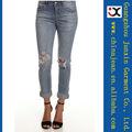 2013 superventas skinny jeans rasgado rasgar los pantalones vaqueros de marca jeans capri (JXL20955)