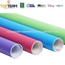 De pvc auto- adhesivo de la película de color sólido para la cocina, decorativos adhesivo de contacto de papel para decoración