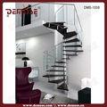 Al aire libre de interior de acero inoxidable en espiral de metal escaleras/escalera