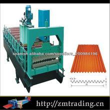 color del metal tejas que forma la máquina rodillo revestido galvanizado corrugado