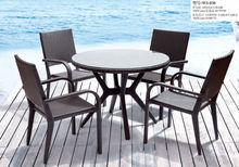 Muebles de jardín en ratán negro especial diseño sistema WS-030