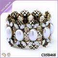 Pulseras de diamante de imitación de moda para mujeres pulseras perlas 2014