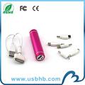 de alta calidad mini perfume 2100 mah teléfono móvil cargador de energía