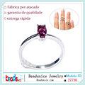 Beadsnice ID 27736 anel de prata esterlina 925 anéis atacado mindinho com turmalina mais recentes modelos do anel de casamento