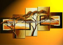mano de pintura de paisaje decoración