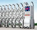 Acero inoxidable asequible alarma automática de rieles puerta telescópica eléctrica Fuhao104A