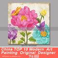 Flor del arte abstracto pintura al óleo sobre lienzo barato