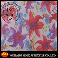 100% hermosa flor impresa tela de paño