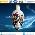2014 nuevo diseño de color máscara de forma artesanal de vidrio de la botella