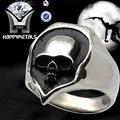 cráneo 316l anillo de acero inoxidable,Calavera Motociclista para hombre