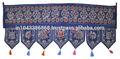 Indio étnico de arte bordado a mano el trabajo del espejo de la puerta tapiz, mayorista de algodón colgando de la puerta