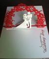 Pop-tarjeta 3D hecho a mano de la invitación de la boda