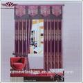 La cortina de lujo cenefas, de tela africana, cortinas de salón