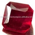 Rubí rojo octógono/esmeralda corte de piedras preciosas..