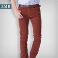 2014 nuevo diseño de pantalones vaqueros de color rojo para hombre